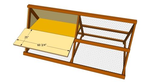 Chicken coop nest room